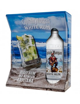 CAPTAIN MORGAN WHITE RUM 700ml + kufel