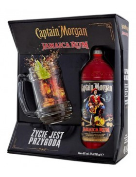 CAPTAIN MORGAN JAMAICA RUM 700ml + kufel